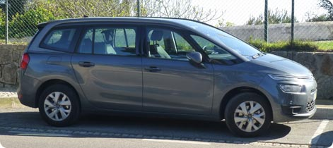 Citroen Grand C4 Picasso car hire Nice