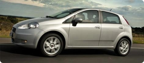 Fiat Grande Punto , an affordable hire car in Thessaloniki