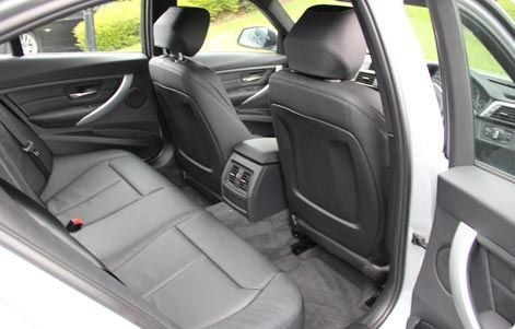Backseat space BMW 3-series