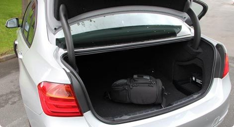 BMW 3-series trunk space