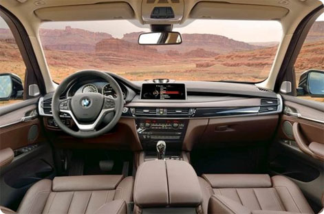 New BMW 5 inside picture