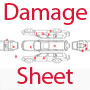 Always check the damage sheet when renting a car – all damages, scratches, dents and upholstery stains need to be documented