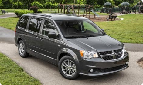 Dodge Caravan large family car to hire Orlando, Florida