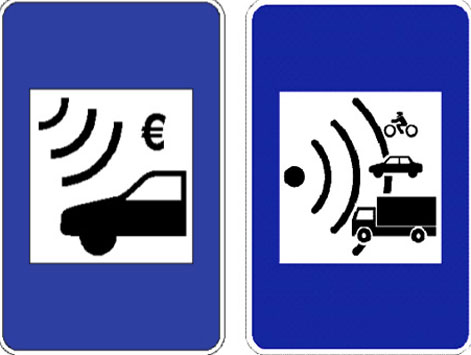 Electronic toll motorway signage