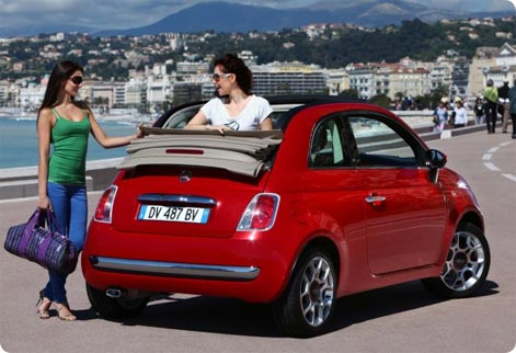 Fiat 500 cheap rental car Itay