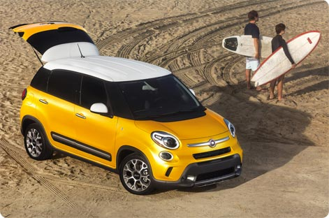 Fiat 500L - cheap car to rent on Lanzarote