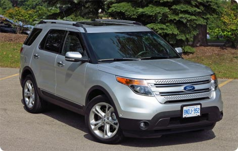 Ford Explorer to rent