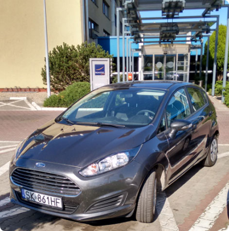 Cheap car hire Poland recommendations - MWM car rental company opinion -  Ford Fiesta economy car hire