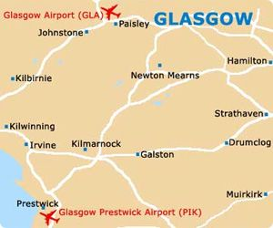 Glasgow-Prestwick Airport cheap car hire - compare rates for car rental Scotland