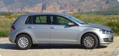 VW Golf - compact class car hire from Gatwick Airport