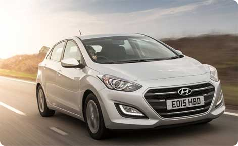 Hyundai i30 economy car hire Bournemouth Airport