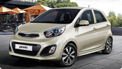 reputable site d666e ce34b Amman Airport rental fleet includes many makes and models widely known in  Europe. Above, Kia Picanto, one of the cheapest rental cars in Jordan.