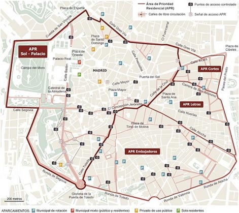 Madrid APR map