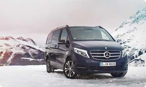 Minibus rental mercedes v class and vito tourer 8 seater for Cheap mercedes benz rental