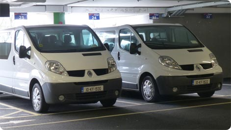 Dublin Airport minibus rental from Budget