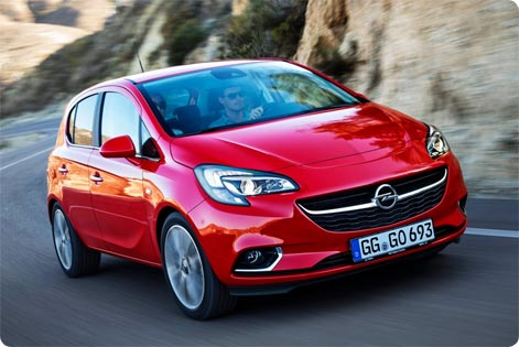 Opel Corsa cheap rental car at Lyon Airport
