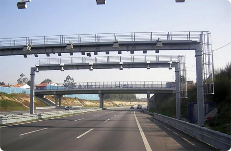Electronic toll motorway Portugal