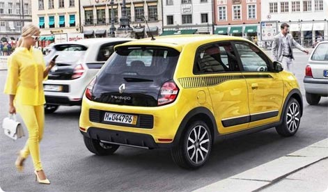 Renault Twingo - cheap hire car in Beauvais Airport, France