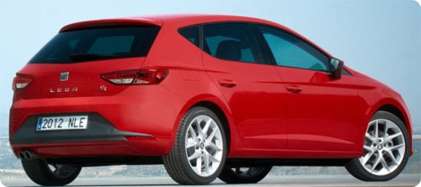 Seat Leon - popular hire car in Spain