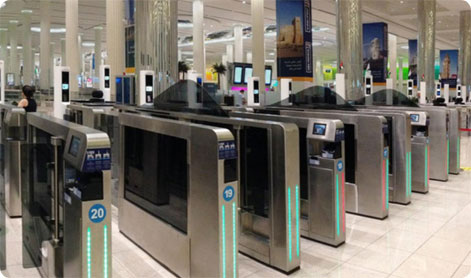 Smart gates Dubai Airport