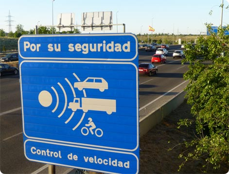 Speed radar control Spain