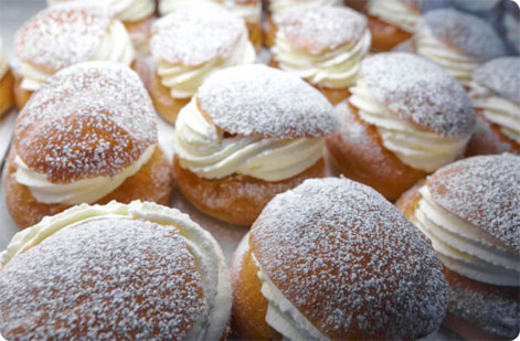 Swedish semla buns