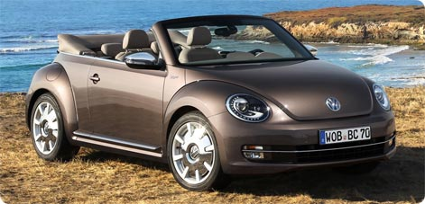 VW Beetle - convertible car hire Crete