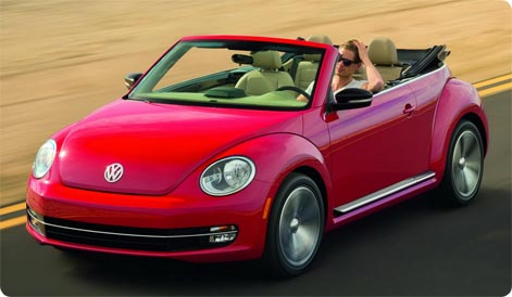 VW Beetle Convertible car hire Kos
