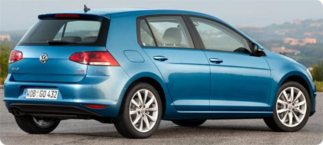 VW Golf car rental Spain