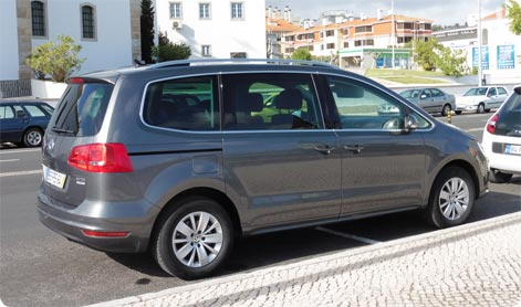 MPV car hire Alicante Airport - VW Sharan