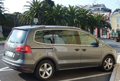 VW Sharan as a hire car