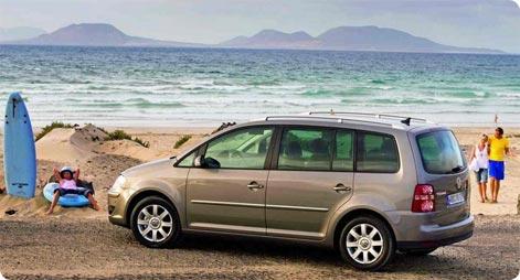 VW Touran - popular car for holidays