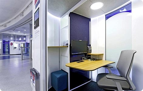 Workpod office space at Gatwick Airport