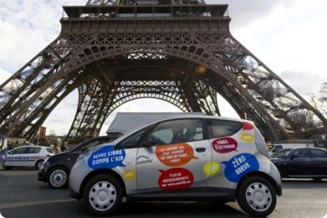 Misubishi MIEV (electric) - cheap hire car from Paris CDG Airport