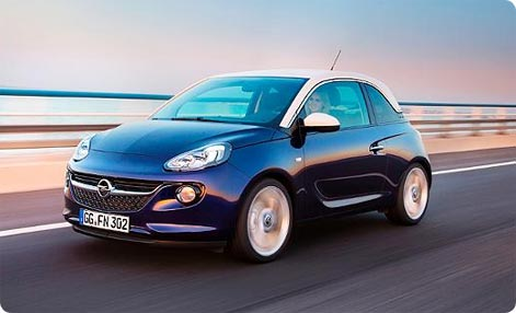 Opel Adam - cheap hire car Germany