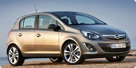 Opel Corsa - popular hire car in Croatia