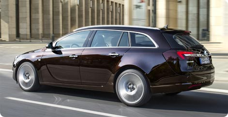 Opel Insignia station wagon - a popular hire car in Germany