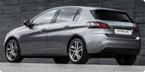 Peugeot 308 hire car in Italy