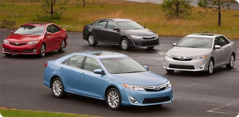 Toyota Camry - a popular hire car Dubai