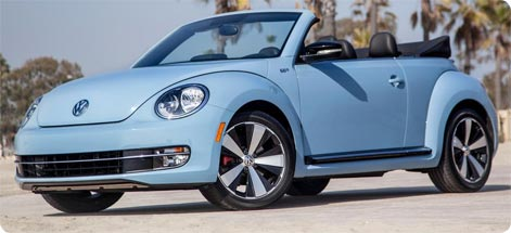 VW Beetle Convertible to hire on Mykonos