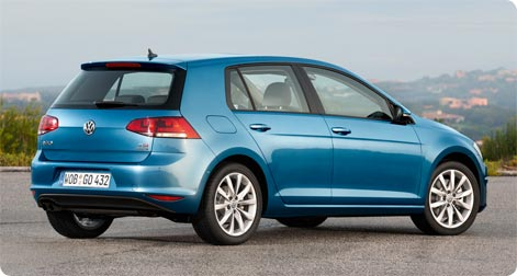 VW Golf compact hire car popular in France