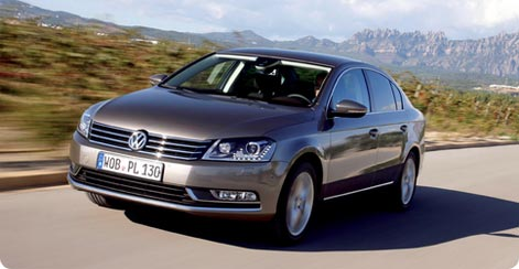 VW Passat cheap large hire car from Berlin-Tegel Airport