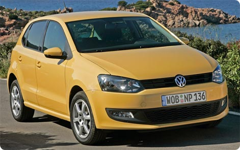 VW Polo hire car from Europcar Mykonos